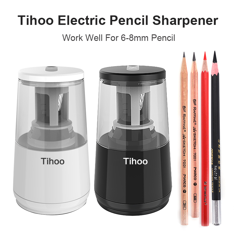 Tenwin Automatic Electric Pencil Sharpener Heavy Duty usb Mechanical for Kids Girls for School Stationery Office and Stationery