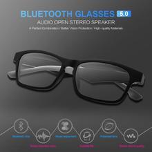 K1 Smart Wireless Bluetooth Headset Glasses USB Car Sports Anti-Blu-ray Earphones Built-in Speaker N