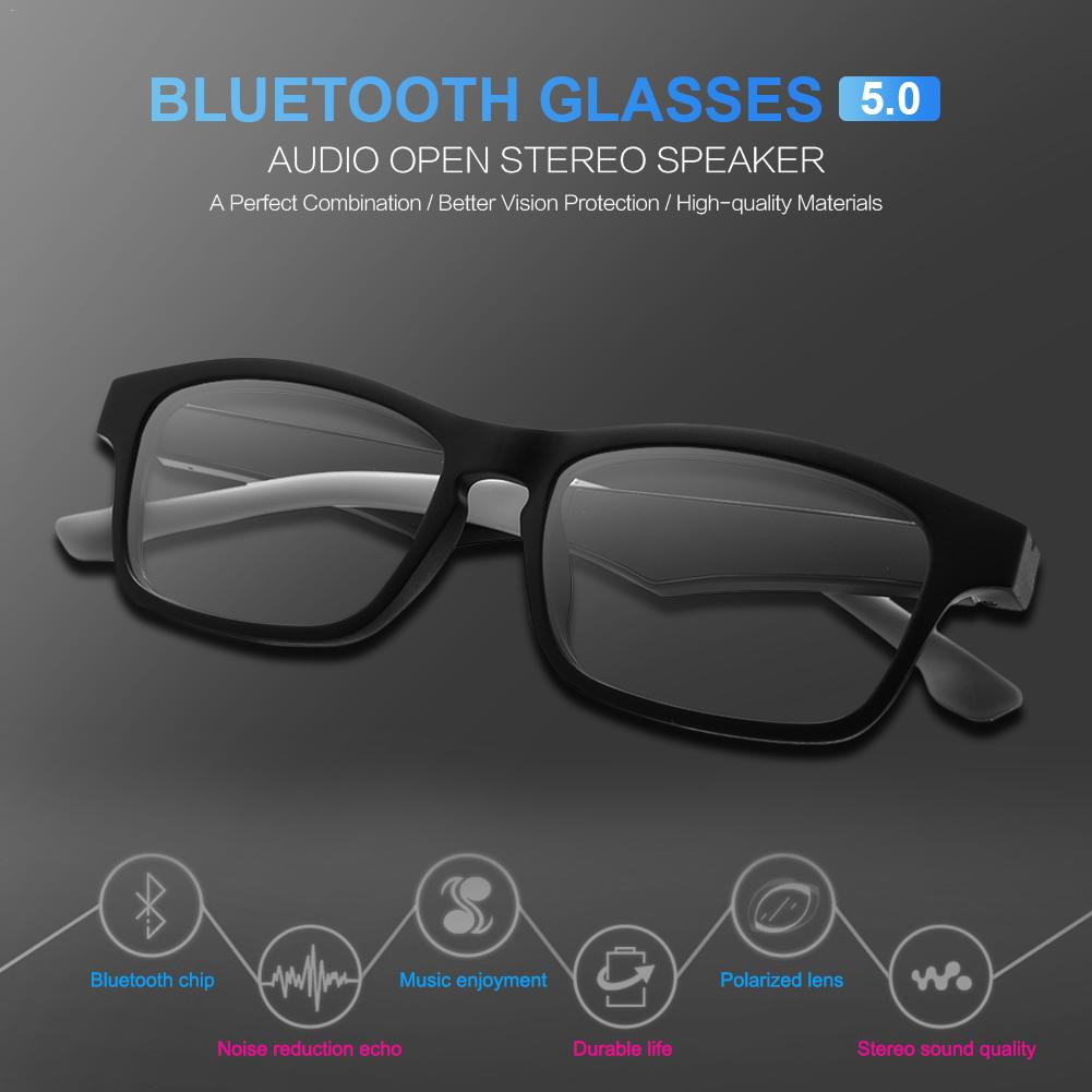 K1 Smart Wireless Bluetooth Headset Glasses USB Car Sports Anti-Blu-ray Earphones Built-in Speaker No Bone Conduction Headphones