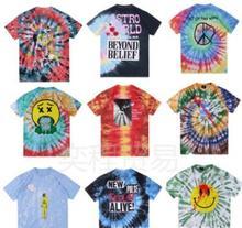 Travis Scott Astroworld Festival Run Tie Dye Tee Summer 19ss New Fashion T shirts Short Sleeved