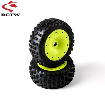 Knobby Tires Assembly Kit for 1/5 Losi 5ive-T Rofun Rovan LT King Motor X2 Universal BAJA 4WD / SLT Truck Spare Toys Parts