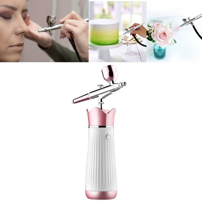Oplaadbare Beauty Hydrating Spray Zuurstof Meter Dual Action Gravity Air-Borstel met Compressor Spray Airbrush Kit voor Beauty Hyd