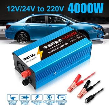 Car Inverter 1500W Modified Sine Wave Power 12V 24V to 220V  Car Power Converter Inverter Adapter Charger power Inverter Battery modified sine wave ups power inverter 1500w dc12v input to ac220v output with battery charging function