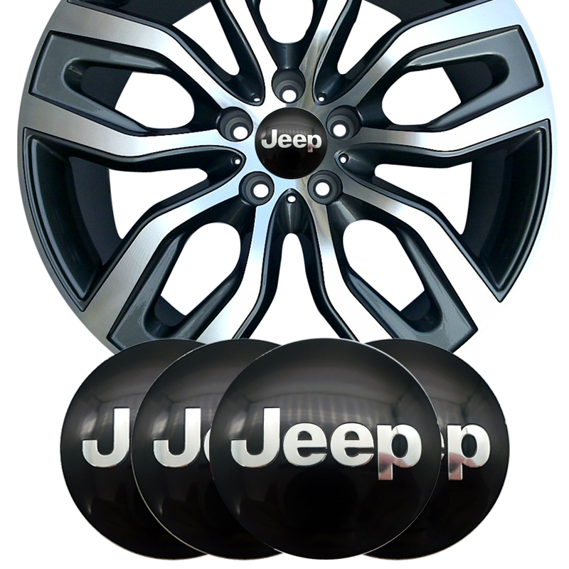 4pcs 56mm Car Wheel Center Cap Badge Dust-proof Covers Emblem Sticker For JEEP Renegade Wrangler Jk Compass Wrangler Patriot