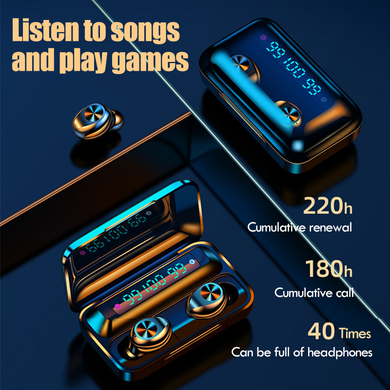 lowest price Oringinal TWS Bluetooth 5 0 Wireless Earphones With Mic Wireless 9D HiFi Stereo Earbuds Touch Control Sport Waterproof Headsets