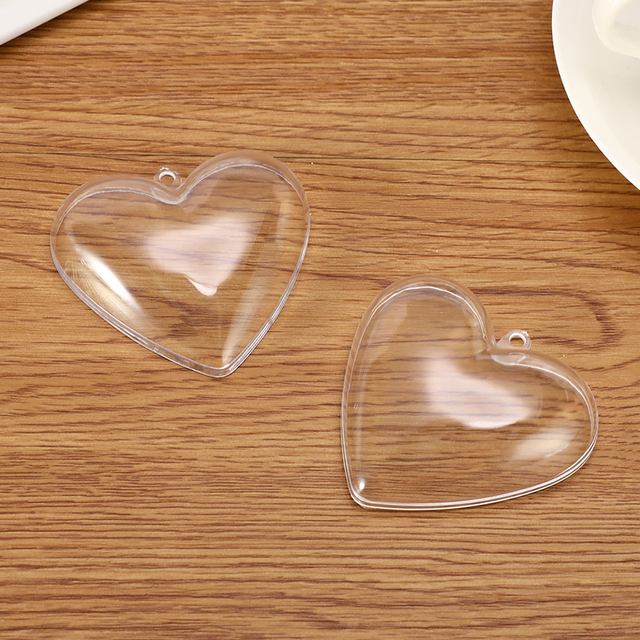 1/2Set 65/80mm Bath Bomb Mold Heart Shape DIY Clear Plastic Bath Bomb Mould Acrylic Mold Bath Accessories For Chrisemas Xmas 4