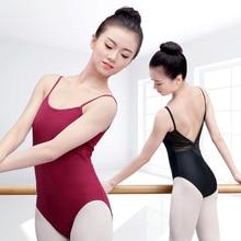 Women Girls Cotton Ballet Dance Leotard Mesh Swimsuit Gymnastics Bodysuit For Ballerina Dancing
