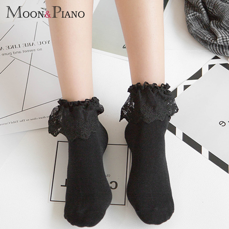 Fashion Style Women Lovely Lolita Short Socks Autumn Winter Ladies Lace Multicolor Soft Cotton Cute Ankle Socking High Quality