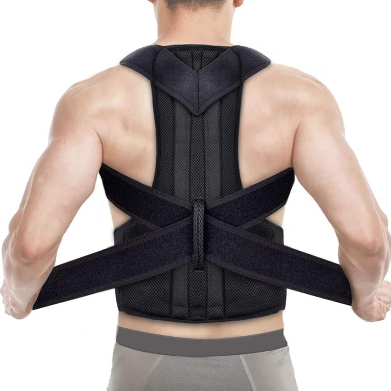Корректор осанки для Для мужчин Для женщин Для мужчин съеживание задняя Поддержка Здравоохранение для плечевого ремня для крепления на плече для ремень многослойное украшение на шею в спина поясница
