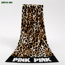Fashion Sunbath Leopard Beach Towels 100% Cotton Women Yoga Towel Swimming Sports Wrap Blanket Quick Dry Bath Towels 145*70cm