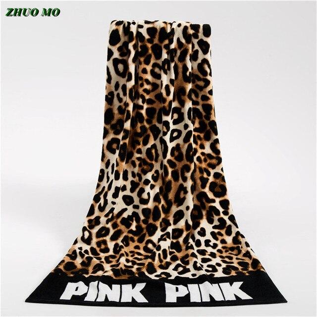 Moda Sunbath Leopard Beach ręczniki 100% bawełna kobiety ręcznik do jogi sporty pływackie koc do owijania szybka sucha kąpiel ręczniki 145*70cm