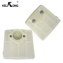 KELKONG 2Pcs Air Filters For Husqvarna 61 66 181 266 281 288 Carburetor Chainsaw Motorcycle Parts Replace # 501 80 71 05