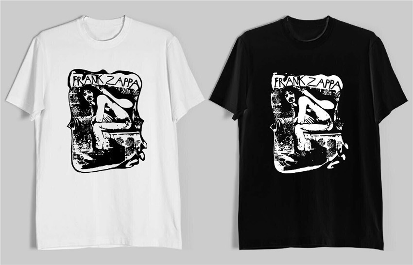 Frank Zappa Album Logo Music Legend Men'S Black White T-Shirt Size S-2Xl Unisex Loose Fit Tee Shirt image