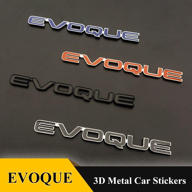 1 шт Высокое качество металла хром и установка EVOQUE эмблема хвостовая часть значок 3D автомобиля Стикеры для Range Rover LRX EVOQUE автомобиля Средства ...