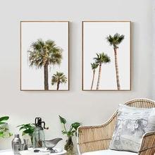 Пальмовое дерево холст живопись Пляжная стена искусство береговой