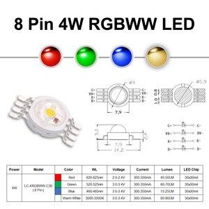 Image 4 - Siêu Sáng 4W 12W RGBW RGBWW RGBV Chip LED COB 3W Đỏ Xanh Trắng Phối Xanh Tím Full màu Sắc Tự Làm Giai Đoạn DJ DMX Ánh Sáng Đèn Thanh Bóng Đèn