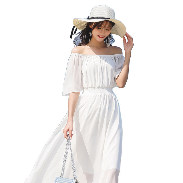2019 New Chinese style women dresses fresh white color Dresses  - AliExpress