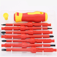 17PCs Multi-function Phillips Slotted Electrical Household Hand Tool  Electrical Screwdriver Set Insulated Screwdriver Set 6pcs insulated screwdriver set tester with ce gs slotted phillips screwdriver wtith magnetic hand tool kit