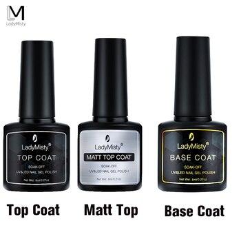 8ml warstwa bazowa i wierzchnia żelowy lakier do paznokci UV lakier do paznokci długotrwały lakier w żelu do paznokci artystyczny Manicure lakier do paznokci żel do paznokci UV LED podkład