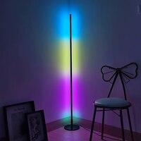 Nordic RGB LED Floor Lamp Bedroom Bedside Standing Lamp Colorful Indoor Lighting Corner Floor Lights Home Decor Light Fixtures