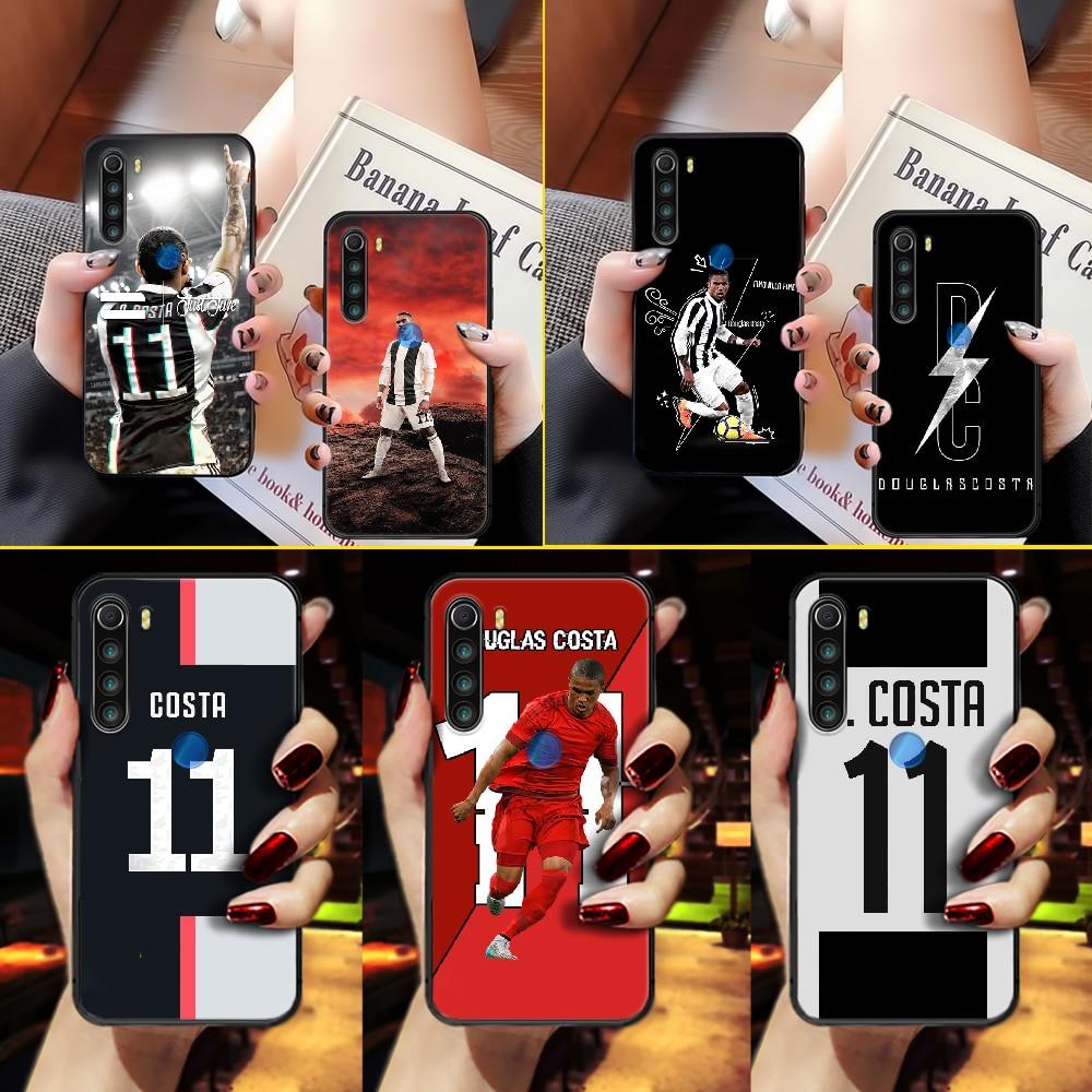 Douglas costa futebol caso do telefone capa casco para xiaomi redmi 7a 8a s2 k20 nota 5 5a 6 7 8t 9 9s pro max preto prime tpu capa