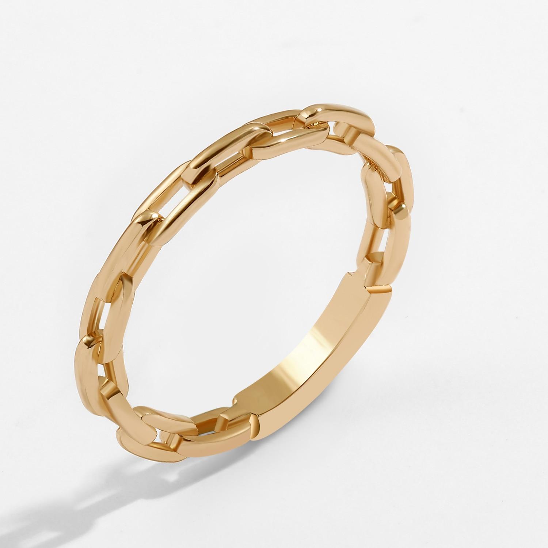 2021 anelli a catena a maglie minimalisti di nuova moda per donna anello a maglie geometriche Color oro Vintage gioielli semplici da dito