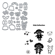 Naifumodo Dies Kids Collection Metal Cutting New 2019 for Craft Scrapbooking Embossing Die Cut Stencil