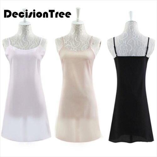 2020 silk women's full slips femme elastic underdress women sexy petticoat woman sleep underdress female linger(China)