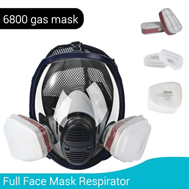 Painting Gas Mask Respirator 6800 with Carbon Filters Cartridge Large View Full Protective Screen Hooded Chemical Organic Gases