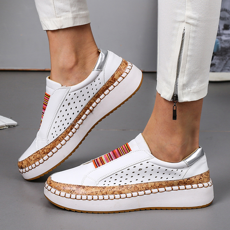 Lucyever Plus Size Loafers Shoes Woman Spring 2020 Flock Leathers Casual Flat Heels Women Slip On Platform Sneakers Flats Mulher