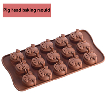 1PC Hot  small pig silicone Moulds cake mold cake decorating tools  as seen on tv chocolate candy sugar cake baking mold DIY creative diy silicone mold cake baking chocolate mould cake mold diy plastic candy sugar paste mold cake decorating baking tool