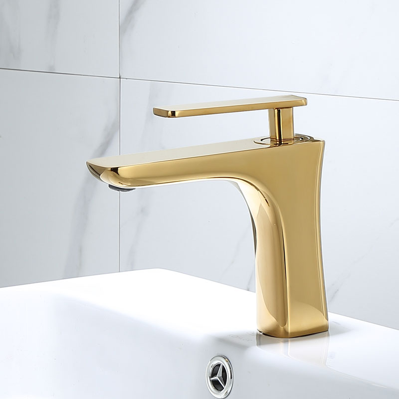 basin faucets elegant brushed gold bathroom faucet hot and cold water basin mixer tap brass toilet sink water crane