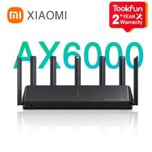 (13USD Código de desconto : ALIBR99) Novo 2021 xiaomi ax6000 aiot roteador 6000mbs wifi6 vpn 512mb qualcomm cpu malha repetidor de sinal externo amplificador de rede mi casa