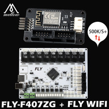 2021 mellow reprap FLY-F407ZG + wifi 9 acionamentos do motor 32-bit para tmc2225 tmc2209 placa-mãe com 6 extrusora 3d impressora voron