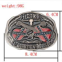 Belt DIY Accessories Guitar belt buckle country music handmade waistband Components Knight heavy metal rock
