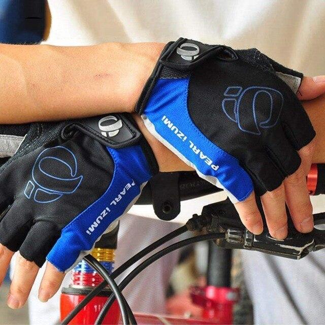 1 par metade do dedo luvas de ciclismo da bicicleta luvas do esporte das mulheres dos homens da bicicleta ginásio luvas de fitness mtb 6