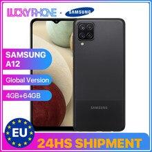 Samsung-teléfono inteligente Galaxy A12, versión Global, 4G, 64G, pantalla de 6,5 pulgadas, ocho núcleos, Mediatek, MT6765, Helio P35, Bluetooth 5,0, 5000mAh