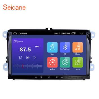Seicane 2GB+32GB car radio Android 9.1/9.0 GPS 9'' Car Multimedia Player For Skoda/Seat/Volkswagen/VW/Passat b7/POLO/GOLF 5 6 image