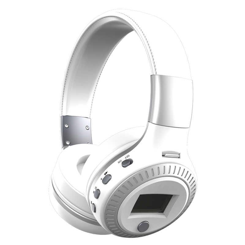 ZEALOT B19 słuchawki wyświetlacz LCD HiFi Bass słuchawki stereo Bluetooth bezprzewodowy zestaw słuchawkowy z mikrofonem Radio FM gniazdo karty tf słuchawki