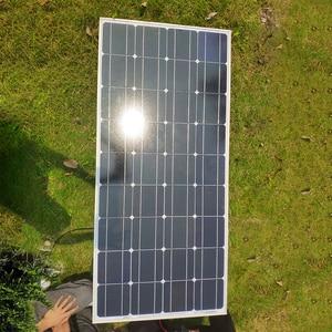 Image 5 - Dokio 12v 100ワット剛性ソーラーパネル中国18 18v単結晶シリコン防水ソーラーパネル充電 # DSP 100M