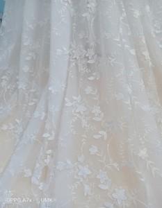 Image 4 - UMK 2020 Vestido De Noiva 3D Lace Wedding Dress Sexy Off the Shoulder See Through Tulle A Line Wedding Dresses
