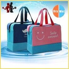 Stitching-Shoes-Storage Beach Wet-Handbag Dry Combo Lattice Big-Capacity Quality Unisex