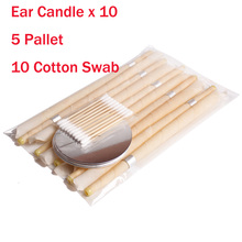 10Pieces Ear Cleaner Hopi Ear Candle Wax Remover Horn Earplu