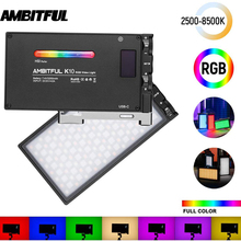 Video-Light Boling bl-P1 Ambitful K10 Dslr-Camera LED Dimmable Photography Full-Color