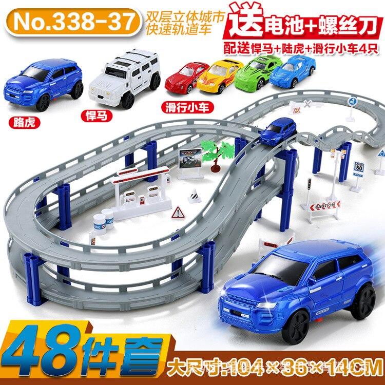 Offre spéciale caméra électrique piste voiture garçon fille 3 jouet enfants 6 assemblage éducatif voiture combinaison multicouche stéréo caméra