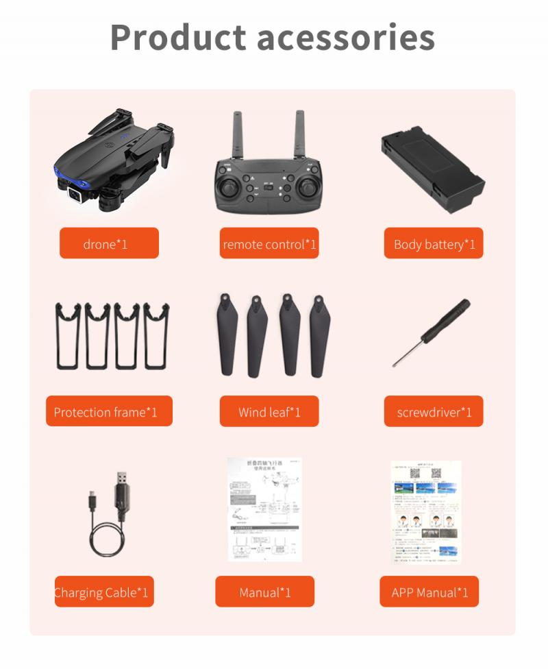 H41b29c18509a4cc0b826fad3d0ef02e3C - E99 PRO RC Drone 4K HD Dual Camera WiFi FPV Foldable Automatic Return Professional Aerial Drone K3 Dron Toy Gift For Adult Kids
