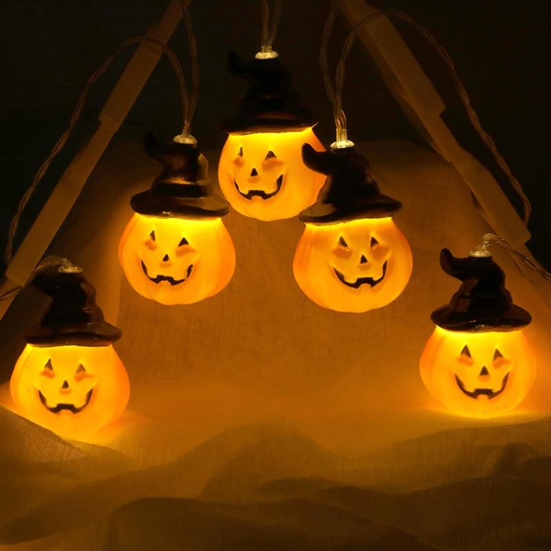 QYJSD Halloween Pumpkin String Lights Outdoor Lighting Fairy Lights Wall Lamp For Bedroom Holiday Salon Patio Wedding Decoration