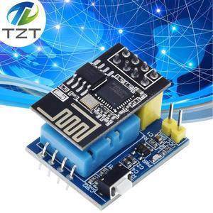 Image 1 - 1ชิ้นESP8266 ESP 01 ESP 01S DHT11เซนเซอร์ความชื้นอุณหภูมิโมดูลesp8266 NodeMCUสมาร์ทบ้านIOT (ที่มีESP01)