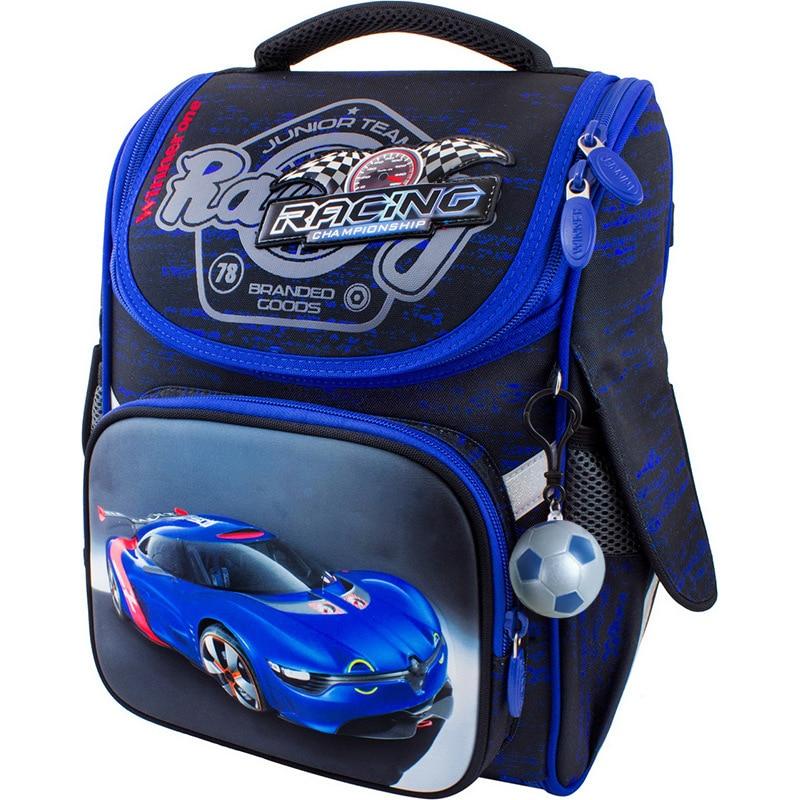 2020 Cartoon Race Car Tank School Bags For Boys High Capacity Orthopedic Kid Backpack Safety Reflective Strip Backpack Grade 1-5