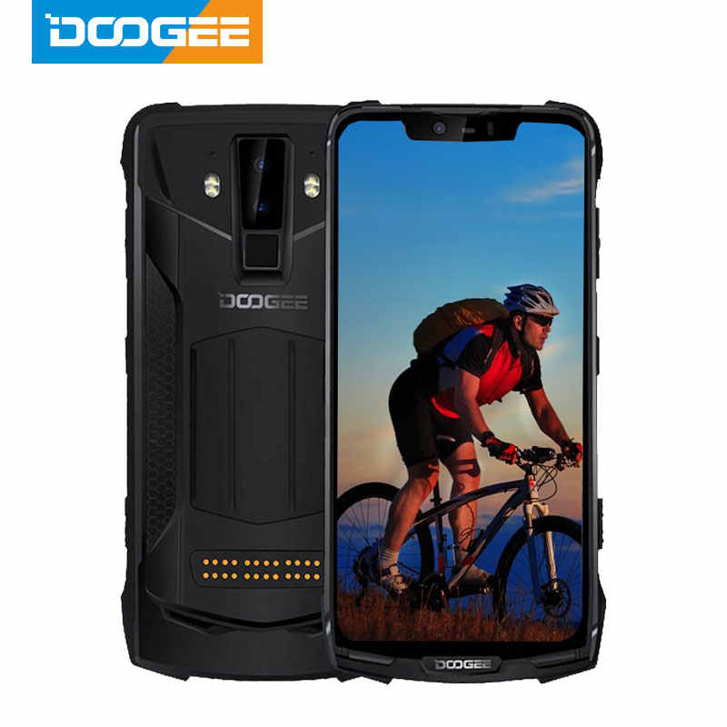 IP68 DOOGEE S90C Modular โทรศัพท์มือถือ Helio P70 OCTA Core 4GB 64GB 16MP + 8MP 6.18 นิ้วจอแสดงผล 12V2A 5050mAh Android 9.0
